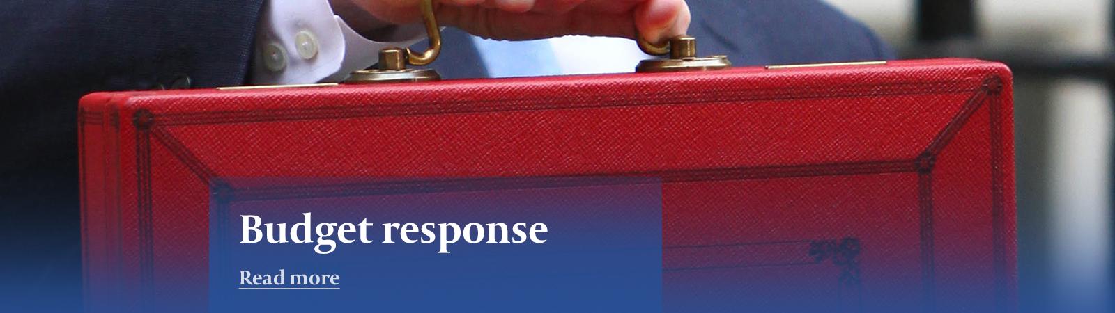 James Hambro & Partners budget response banner