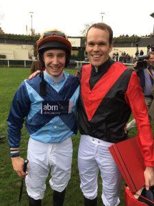 Winner Tom Chatfeild-Roberts and Mark Richmond-Watson