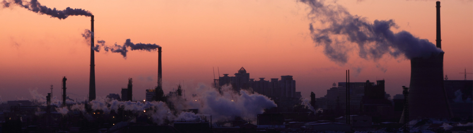 Chinese factory producing smog