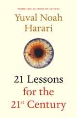 Cover of 21 Lessons for the 21st Century book by author Yuval Noah Harari