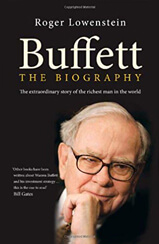 Cover of Warren Buffett: The Biography book by author by Roger Lowenstein