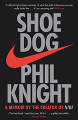 Cover of Shoe Dog book by author Phil Knight